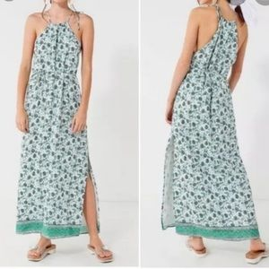 Urban Outfitters Mint Floral Maxi Dress M